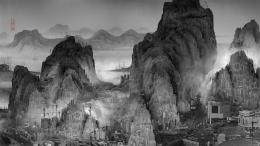 Yang Yongliang (geb. 1980), Phantom Landscape, datiert 2010, Video, Farbe, Ton, 3:23 Min, DSL Collection, Paris, © Yang Yongliang, courtesy Yang Yongliang Studio