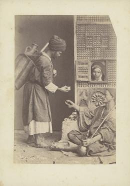 «Wasserverkäufer». Pascal Sebah. Albuminabzug. Ägypten, Kairo, um 1875. Museum Rietberg, Zürich   FRP 1-18