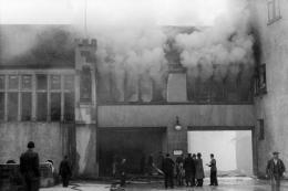 Museum zu Allerheiligen Schaffhausen (Museumseingang) kurz nach der Bombardierung 1944. Bild: Stadtarchiv Schaffhausen
