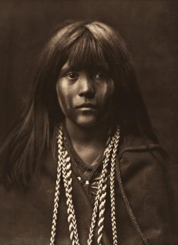 «Mosa – Mohave» Edward S. Curtis, Fotogravur, 1903 (c) McCormick Library of Special Collections, Northwestern University Libraries