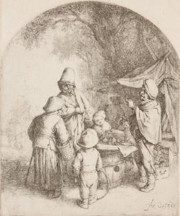 """Adriaen van Ostade, 1610 – 1685, """"Der Charlatan"""", 1648, Radierung Kunst Museum Winterthur, Stiftung Oskar Reinhart"""