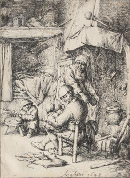 """Adriaen van Ostade, 1610 – 1685, """"Der Familienvater"""", 1648, Radierung Kunst Museum Winterthur, Stiftung Oskar Reinhart"""