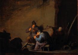 """Adriaen van Ostade, 1610 – 1685, """"Interieur mit Fischerfamilie"""", um 1635, Öl auf Holz Kunst Museum Winterthur, Geschenk der Stiftung Jakob Briner, 2018"""