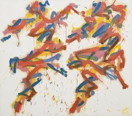 Otto Muehl, o.T. (2 Tänzerinnen), 1983, Öl auf Leinwand 120 x 140 cm © Foto: Wienerroither & Kohlbacher