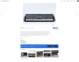 Polyphoner, analoger Synthesizer mit Frequenzteilerschaltung, der zwischen 1975 und 1980 von Moog gebaut wird © Google