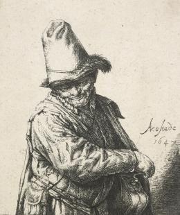 """Adriaen van Ostade, 1610 – 1685, """"Der Leiermann"""", 1647, Radierung Kunst Museum Winterthur, Stiftung Oskar Reinhart"""