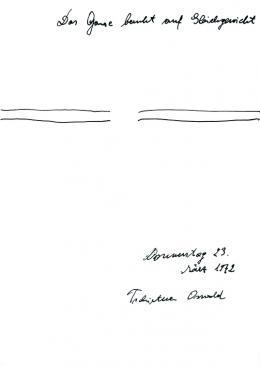 Oswald Tschirtne, Das Ganze beruht auf Gleichgewicht,1972, Sammlung Röschl © Privatstiftung – Künstler aus Gugging