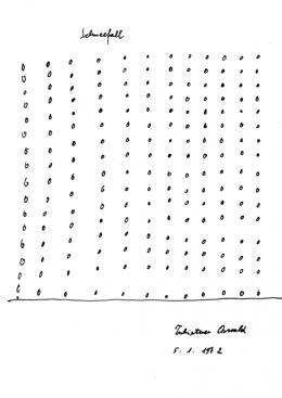 Oswald Tschirtner, Schneefall, 1972, Collection de l'Art Brut, Lausanne © Privatstiftung – Künstler aus Gugging