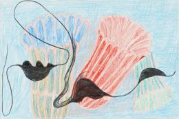 Ohne Titel, aus der Reihe Noli me tangere, 2016, Farbstiftzeichnung Caran d'Ache auf Fabriano Zeichenpapier, 32 x 48 cm