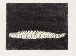 Ohne Titel, aus der Reihe Starre Figuren / Sarkophage, 1979, Bleistift auf Ingres Papier, 24,2 x 32 cm, Kunst(Zeug)Haus, Rapperswil-Jona