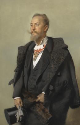 Gottlieb Theodor Kempf von Hartenkampf, Portrait Otto Wagner, 1896  © Wien Museum