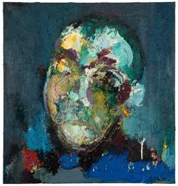 Otto Zitko,  ohne Titel, 1987 / Öl auf Leinwand, 80 x 76 cm  © Bildrecht, Wien 2019 / Foto: Crisan, Wien