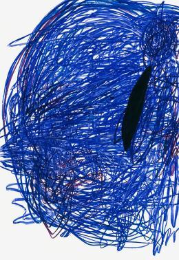Otto Zitko,  ohne Titel, 2007 / Ölstift auf Aluminium, 216,1 x 149,3 cm  © Bildrecht, Wien 2019 / Foto: Lisa Rastl, Wien / Courtesy Galerie CRONE, Berlin Wien