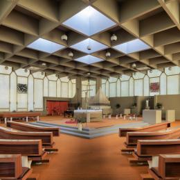 Horst Parson, Pfarrkirche Petrus Canisius, Innsbruck, 1969 – 71 Bildnachweis: © Günter Richard Wett