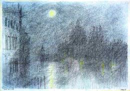 Paul Flora, Clair de Lune, 1988 (c) Paul Flora/ Sammlung Grill