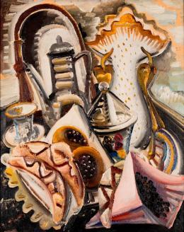 Paul Kleinschmidt, Stillleben mit Kaffeetisch, 1931. Öl auf Leinwand, Privatbesitz