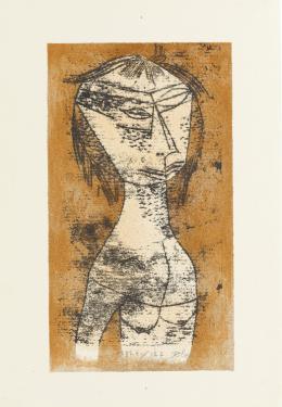 Paul Klee, Die Heilige vom innern Licht (Blatt 5 in: Bauhaus-Drucke. Erste Mappe), 1921, Staatsgalerie Stuttgart, Graphische Sammlung