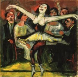 Max Pechstein, Tänzerin in einer Bar, 1923/31. Öl auf Leinwand, 90 x 90,5 cm; Privatbesitz. © 2019 Pechstein – Hamburg/Tökendorf
