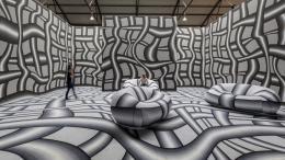 Peter Kogler, Art Brussels 2016,  Foto: Vincent Everarts