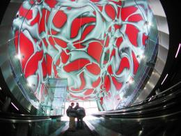Peter Kogler, Hauptbahnhof Graz, 2003,  Ausführung: Typico © Peter Kogler