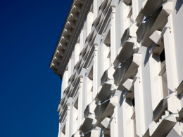 "Peter Sandbichler, Detail Fassadengestaltung ""Varta""-Haus, Wien © Foto: Günter Richard Wett"