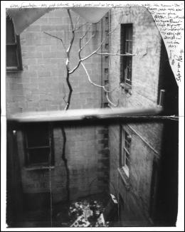 Photo Robert Frank,New York 1996 mit Brief an Gundula Schulze Eldowy