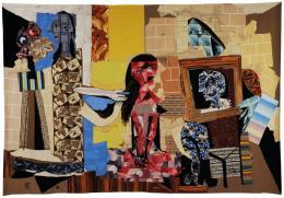 Pablo Picasso (1881–1973), Frauen bei ihrer Toilette, 1969. Manufacture des Gobelins, 58 × 60 cm, Wolle; Sammlung Mobilier national. © Succession Picasso / VG Bild-Kunst, Bonn 2019, Foto: Françoise Baussan