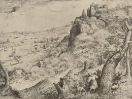 """Pieter Bruegel d. Ä., """"Die Hasenjagd"""", 1560, Radierung und Kupferstich Albertina, Wien © Albertina, Wien"""