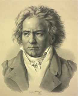 Ludwig van Beethoven; Lithografie nach einer Zeichnung von August von Kloeber; 1841 © Österreichische Nationalbibliothek