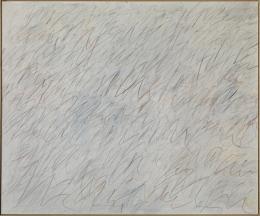 """Cy Twombly, """"Nini's Painting"""", 1971 © Cy Twombly Foundation, Courtesy: Udo und Anette Brandhorst Sammlung, Foto: Museum Brandhorst, Bayerische Staatsgemäldesammlungen, München (Haydar Koyupinar)"""