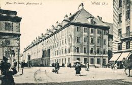 Blick auf die Alser Kaserne von der Straßenkreuzung Landesgerichtsstraße/Universitätsstraße, 1910 © Wien Museum