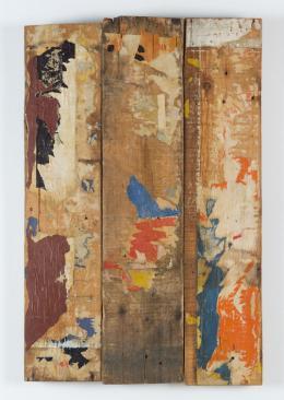 Raymond Hains, Palissade de trois planches, 1959 Foto © mumok - Museum moderner Kunst Stiftung Ludwig Wien,ehemals Sammlung Hahn, Köln