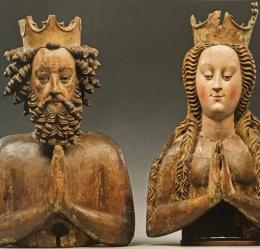 Reliquienbüsten der hl. Heinrich und Kunigunde, Böhmen (?), um 1430/40. Paderborn, Erzbischöfliches Diözesanmuseum und Domschatzkammer