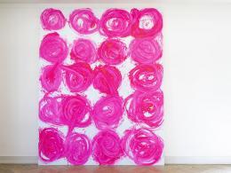 Renée Levi, Nora, 2018, Acryl auf Baumwolle, 400 x 320 cm  © Nico Valsangiaco