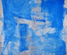 Renée Levi, Yuko 1, 2019, 230 x 280 cm, Acryl auf Baumwolle