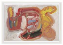 "Richard Allen Morris, ""RAM-65-GP-81"", 1965, Tempera auf Papier, 30.5 x 45 cm © Foto: Martin Böck"