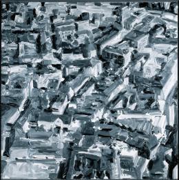 Gerhard Richter, Stadtbild F, 1968, Öl auf Leinwand, 200 × 200 cm, Städel Museum, Frankfurt am Main, Dauerleihgabe der Deutschen Bundesbank; Foto: Wolfganz Günzel © Gerhard Richter