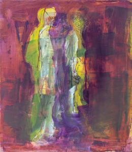 Robert Muntean: Andre Sider (Öl auf Papier auf Leinwand, 2019)