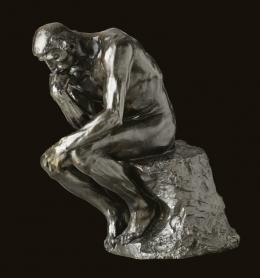 """Auguste Rodin, """"Der Denker"""", Originalgrösse, 1880/1882  Bronze (Auguste Griffoul, 1896), 72 x 34 x 53 cm, MAH Musée d'art et d'histoire, Genf Foto: © MAH, Genève, Photo Flora Bevilacqua"""