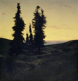 Arnold Böcklin, Wettertannen, 1849 Öl auf Leinwand, 76,8 x 74,6 cm Kunstmuseum Basel, Vermächtnis Clara Böcklin 1923