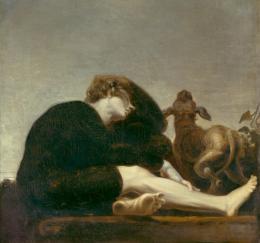 Johann Heinrich Füssli, Einsamkeit im Morgenzwielicht, 1794–1796 Öl auf Leinwand, 95 x 102 cm Kunsthaus Zürich, 1941