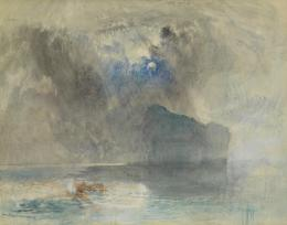 Joseph Mallord William Turner, On Lake Lucerne looking towards Fluelen, 1841 Grafit und Aquarell auf Papier, 28,3 x 22,3 cm The Samuel Courtauld Trust, The Courtauld Gallery, London, Scharf Bequest 2007