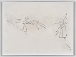 Vittorio Santoro, In/Voluntary Movement Diagram (Josef K./Steps), 2018 Bleistift und Fussabdrücke auf Papier, 59.4 × 82 cm