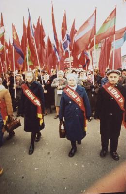 """Ohne Titel, aus der Serie """"Red Series"""", 1968-1975; (c) Boris Mikailov, VG Bild-Kunst, Bonn 2019"""