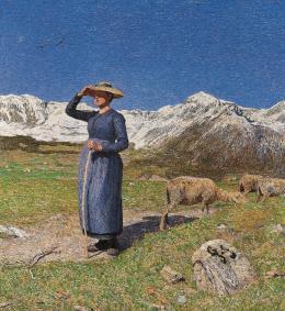 Giovanni Segantini, Mezzogiorno sulle Alpi, 1891. Öl auf Leinwand, Otto Fischbacher Giovanni Segantini Stiftung