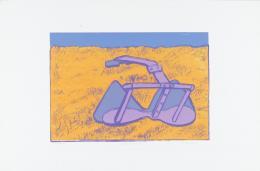 Maria Lassnig: Painter in America, 1969. Staatsgalerie Stuttgart, Graphische Sammlung, Schenkung anlässlich des 175-jährigen Jubiläums der Staatsgalerie Stuttgart; © Maria Lassnig Stiftung