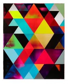 Shannon Finley, Modular Metaphysics, 2020, Acryl auf Leinwand, 150 x 120 cm © Shannon Finley