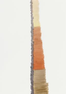 Silvia Bächli, ohne Titel, 2019. Gouache auf Papier, 62 x 44 cm; © Silvia Bächli