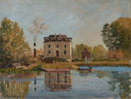 lfred Sisley (1839–1899) Die Flut. Ufer der Seine, Bougival , 1873 Öl auf Leinwand, 50 x 65,5 cm Ordrupgaard, Kopenhagen © Foto: Anders Sune Berg