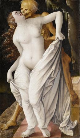 Hans Baldung Grien: Der Tod und die Frau, um 1520/25. Kunstmuseum Basel, Bilddaten gemeinfrei